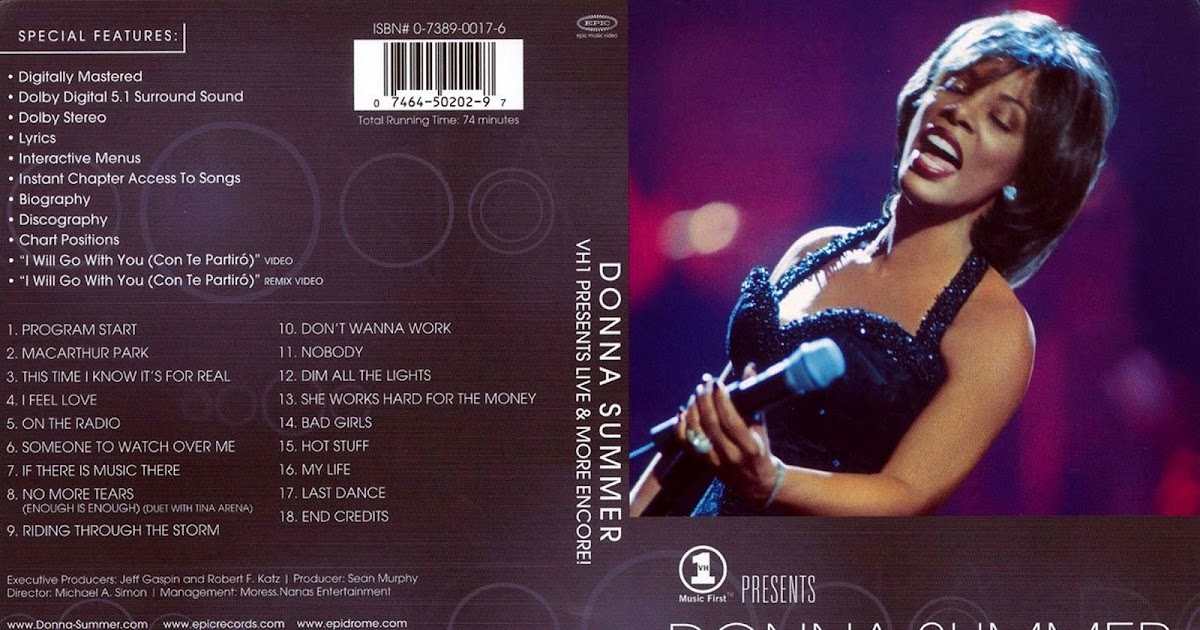 Capas Shows Internacional: Donna Summer - Live & More Encore