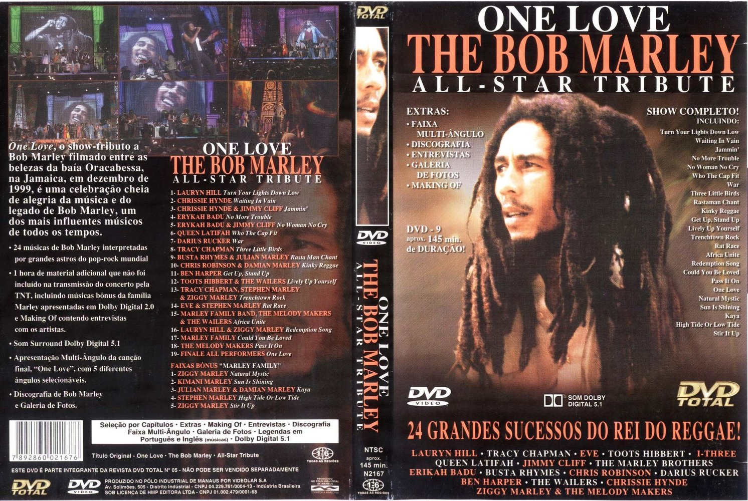 o dvd tributo a bob marley
