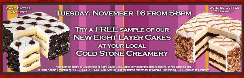 Cold Stone Birthday Cake Prices
