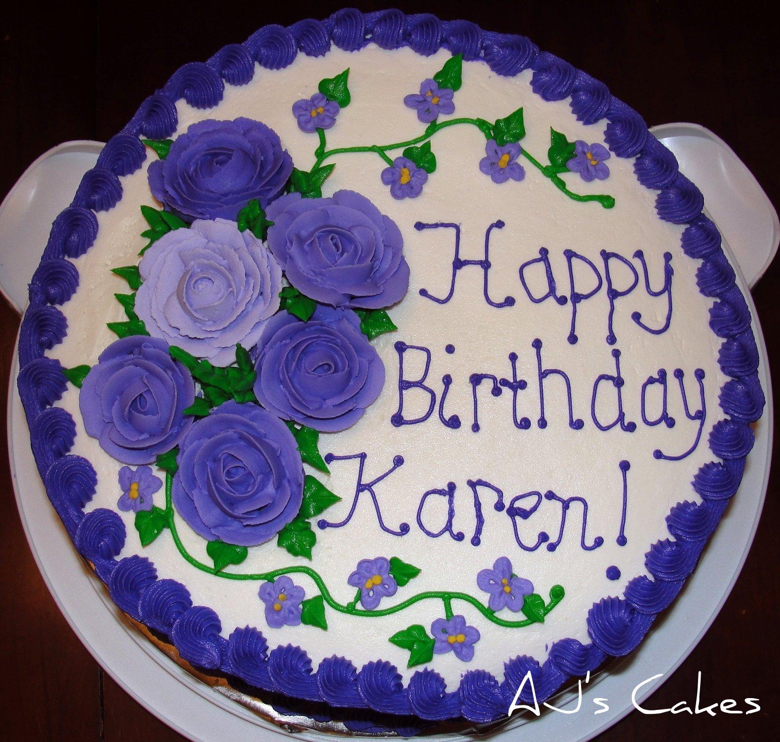Aj S Cakes Karen S Birthday Cake