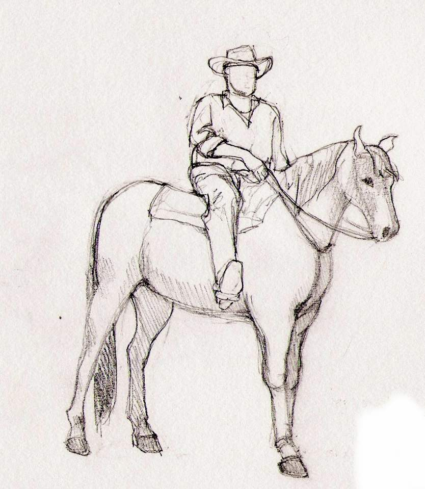 How To Draw Man Riding Horse