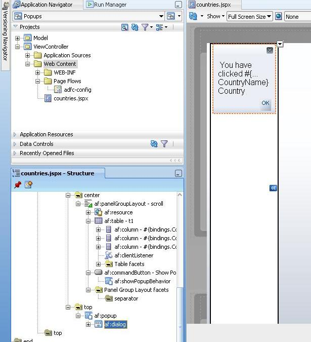 Zeeshan Baig's Blog: Creating and displaying Popups in Oracle ADF