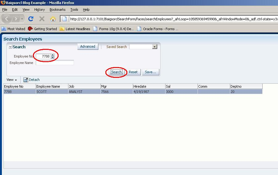 Zeeshan Baig's Blog: Creating Simple Search form in Oracle ADF