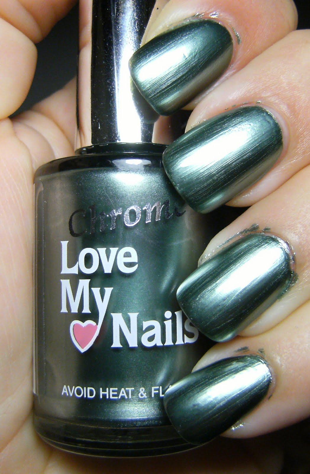 My Nail Polish Obsession My Birthday Nails: Deez Nailz: ♥ Love My Nails Chrome Envy