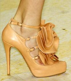 Christian Louboutin for Philip Lim S/S 09 ruffled frill shoes