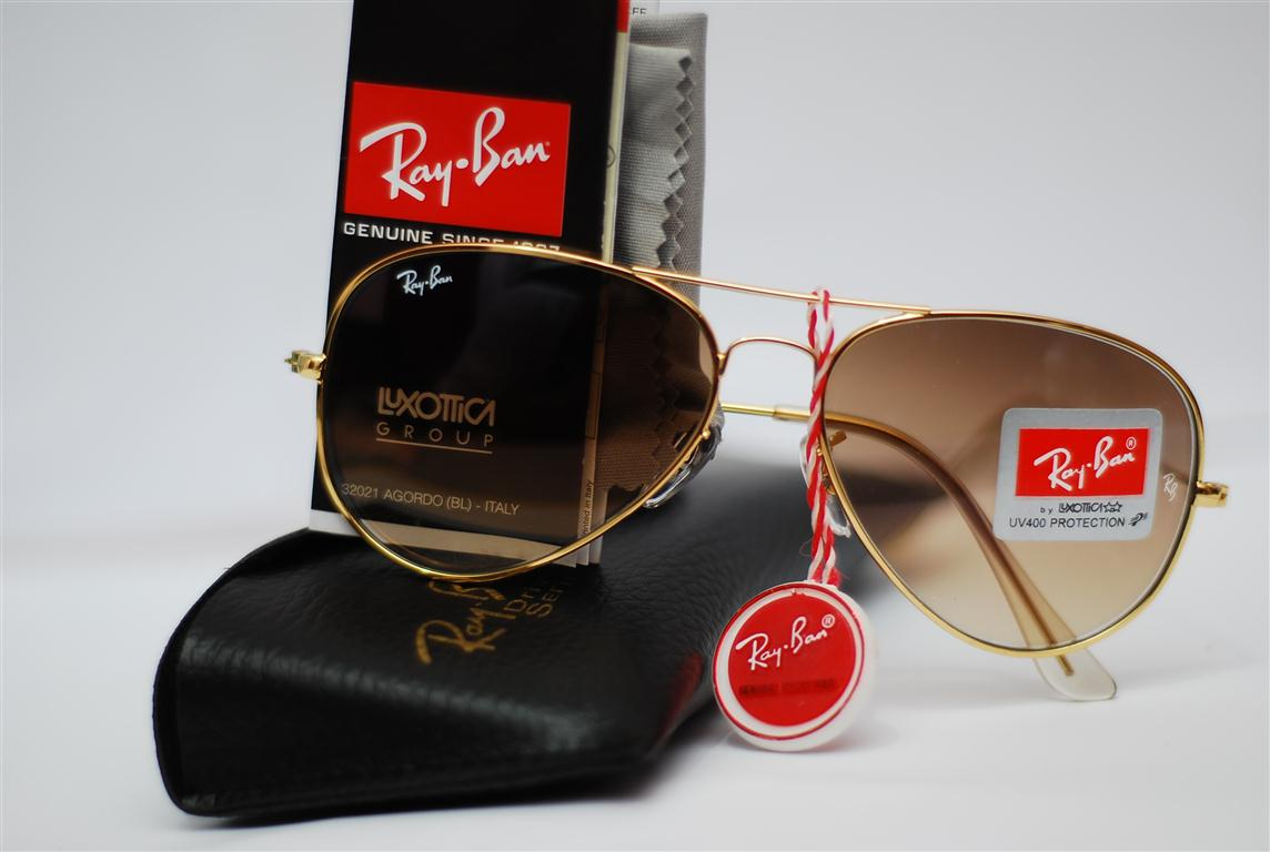 f2e9894e8 Ray Fan Shop: Rayban Aviator Gold Frame / Gradient Brown Lens (M)