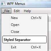 WPF Menus and Commands
