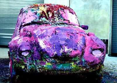 Bob Baker Subaru >> Bugging San Diego Old School: Painted VW Beatle at New ...