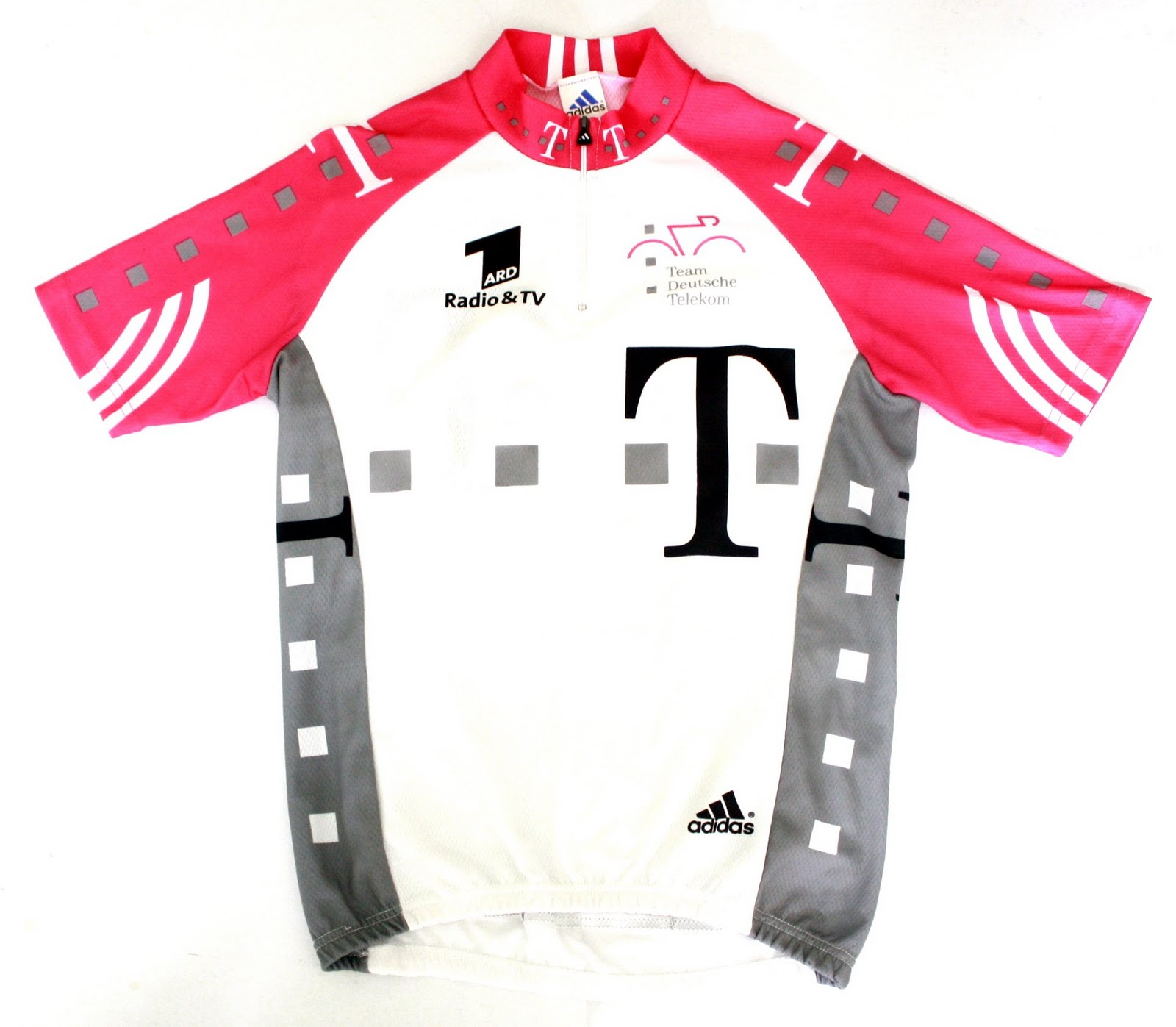 Team Deutsche Telekom Cycling Jersey - by Adidas (Size 4) ( Click on  thumbnails for bigger photos ) 3372b1245