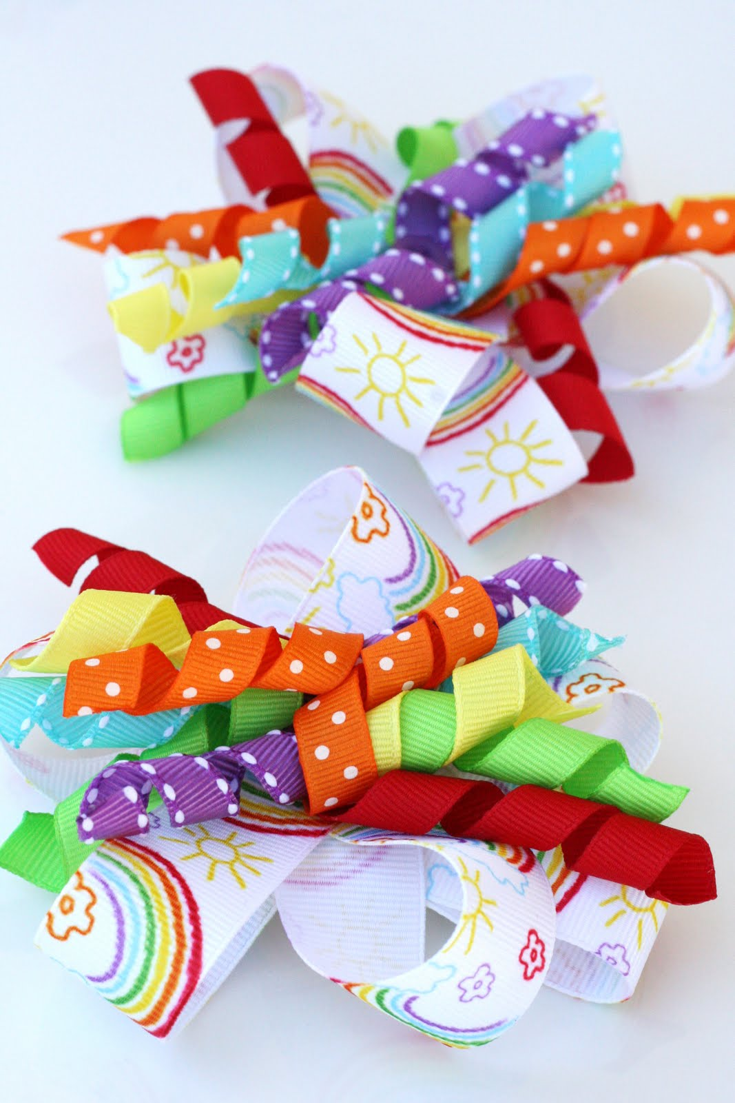 {How-to} Make Curly Ribbon Hair Bows – Glorious Treats