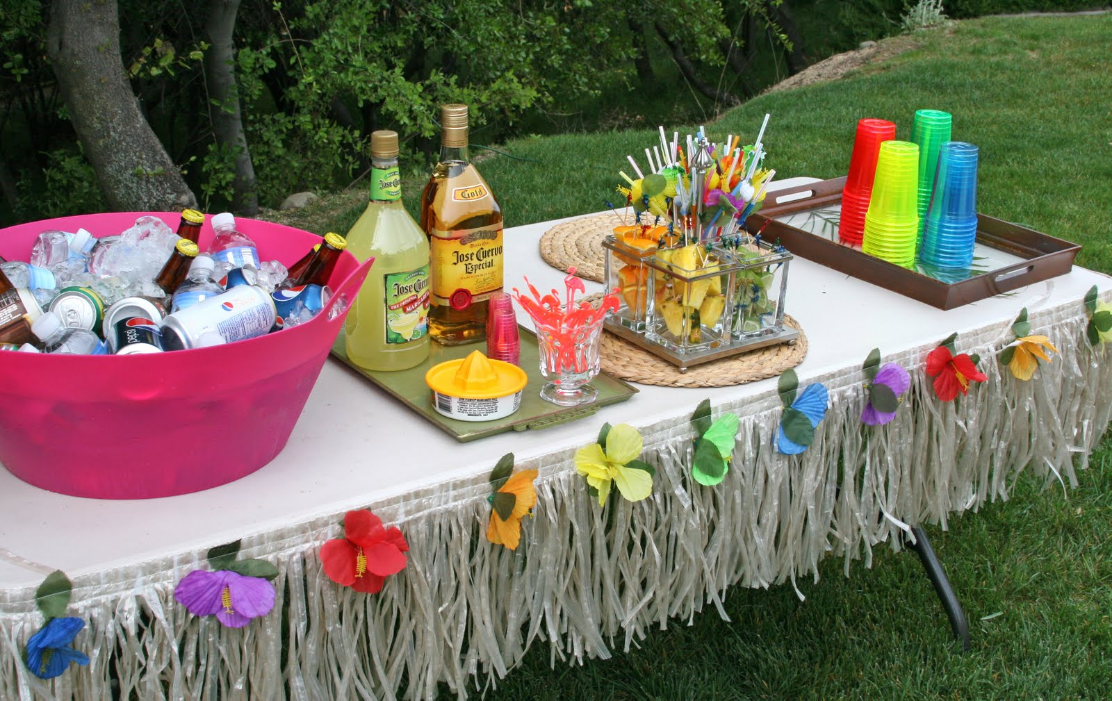 Glorious Treats Parties 30th Birthday Luau Party & Luau Party Decorations Ideas - Elitflat