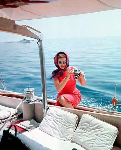 jackie%2Bkennedy%2Bon%2Ba%2Byacht Jackie Kennedy Fashion