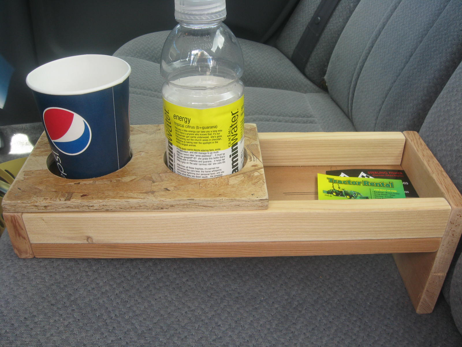 another project kid s backseat cup holders and extra space