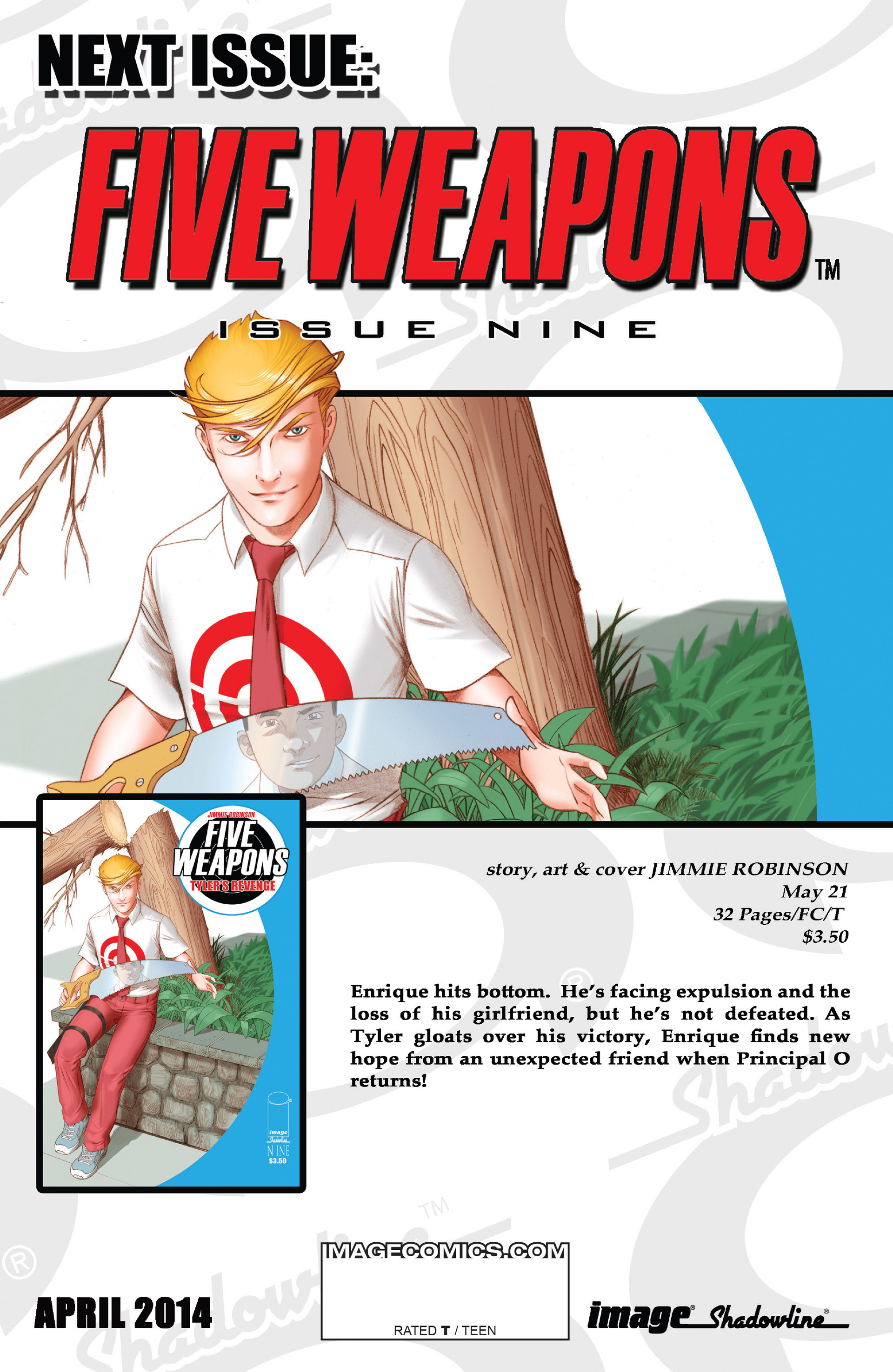 Read online Five Weapons comic -  Issue #8 - 32