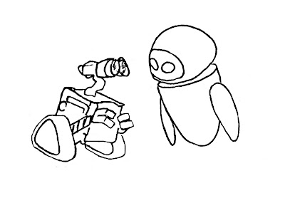 Wall E Coloring Pages Wall E And Eve Coloring Pages