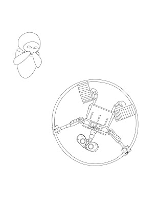 Wall-E Coloring Pages: Great New Wall-e And Friends Kids