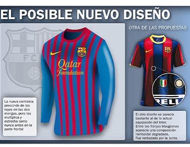e7dc0bb2e0 FC Barcelona  Así sería la camiseta 2011 2012 - Nuevo Fútbol