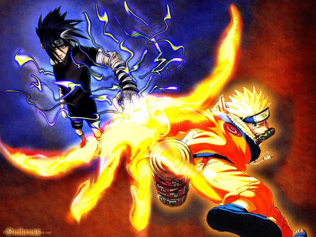 Hwfd Naruto Rasengan Vs Sasuke Free Download Wallpaper 1024 X