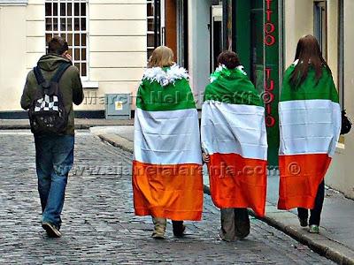 St Patricks day Dublin bandeira da Irlanda