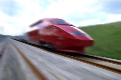 Trem de alta velocidade em Amsterdã