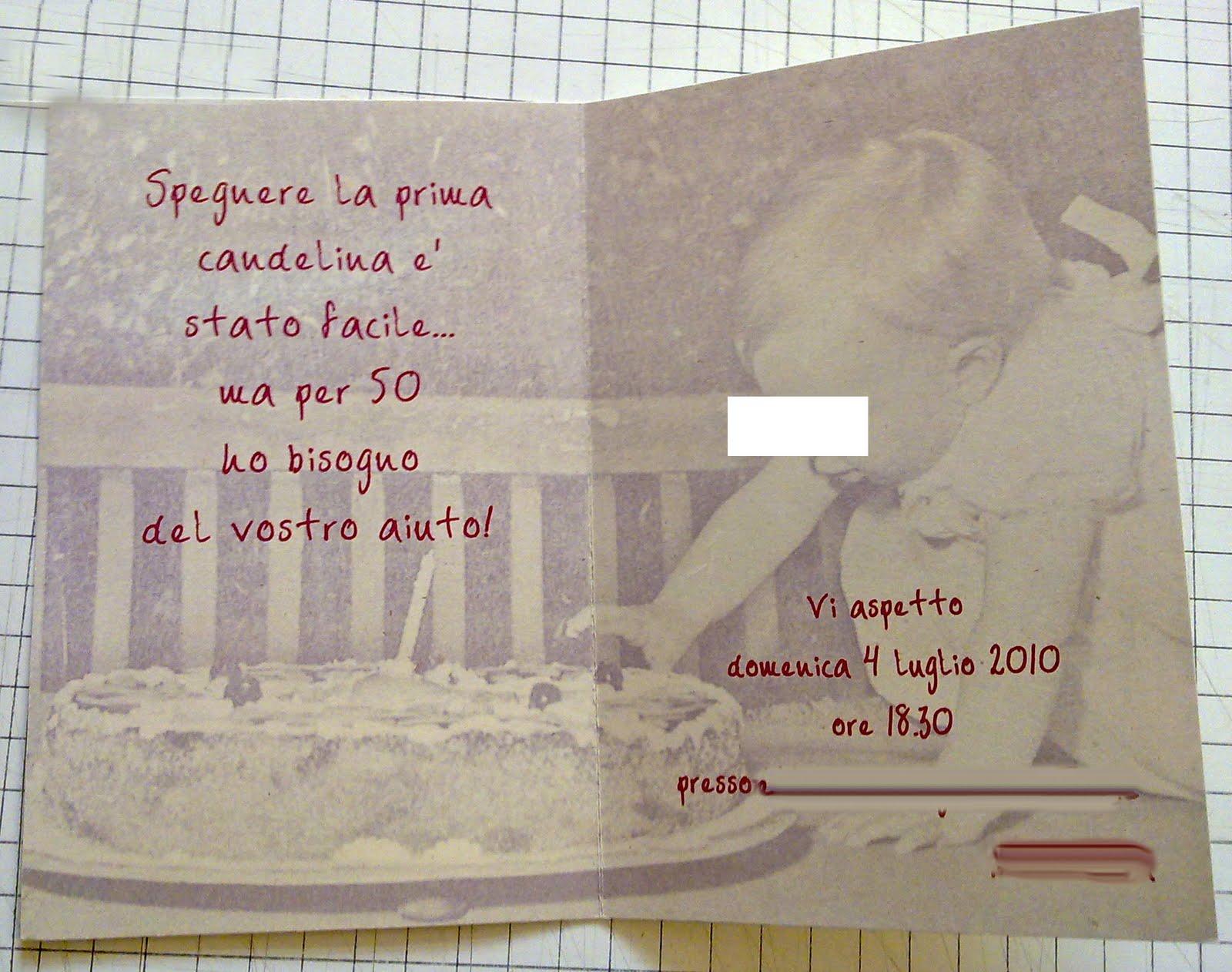 Invito 50esimo Compleanno Marta Paper Design