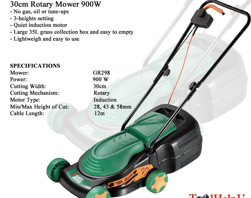 Tool Help U Black And Decker Lawn Mower