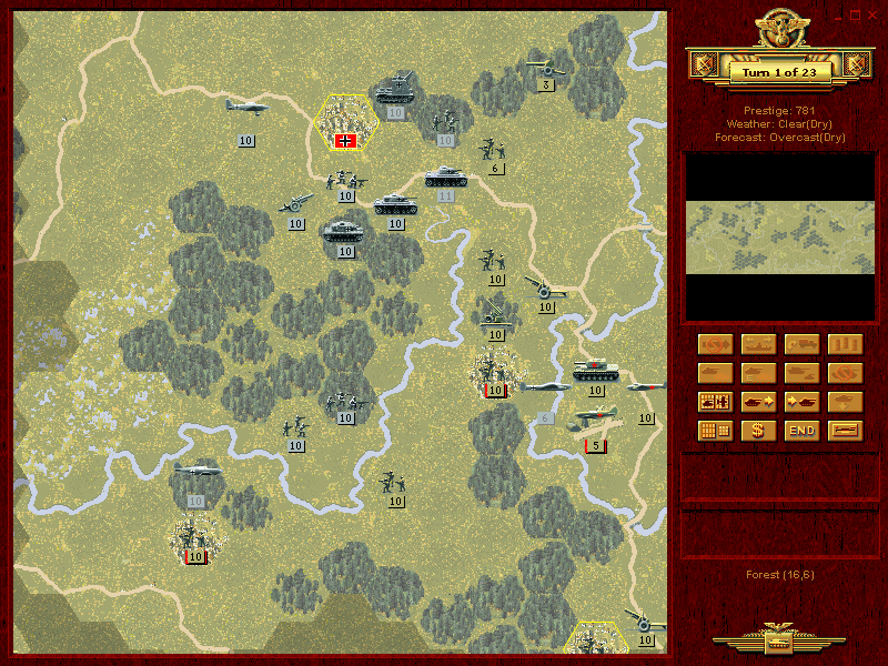 Panzer General is the book definition of turn-based strategy, staged