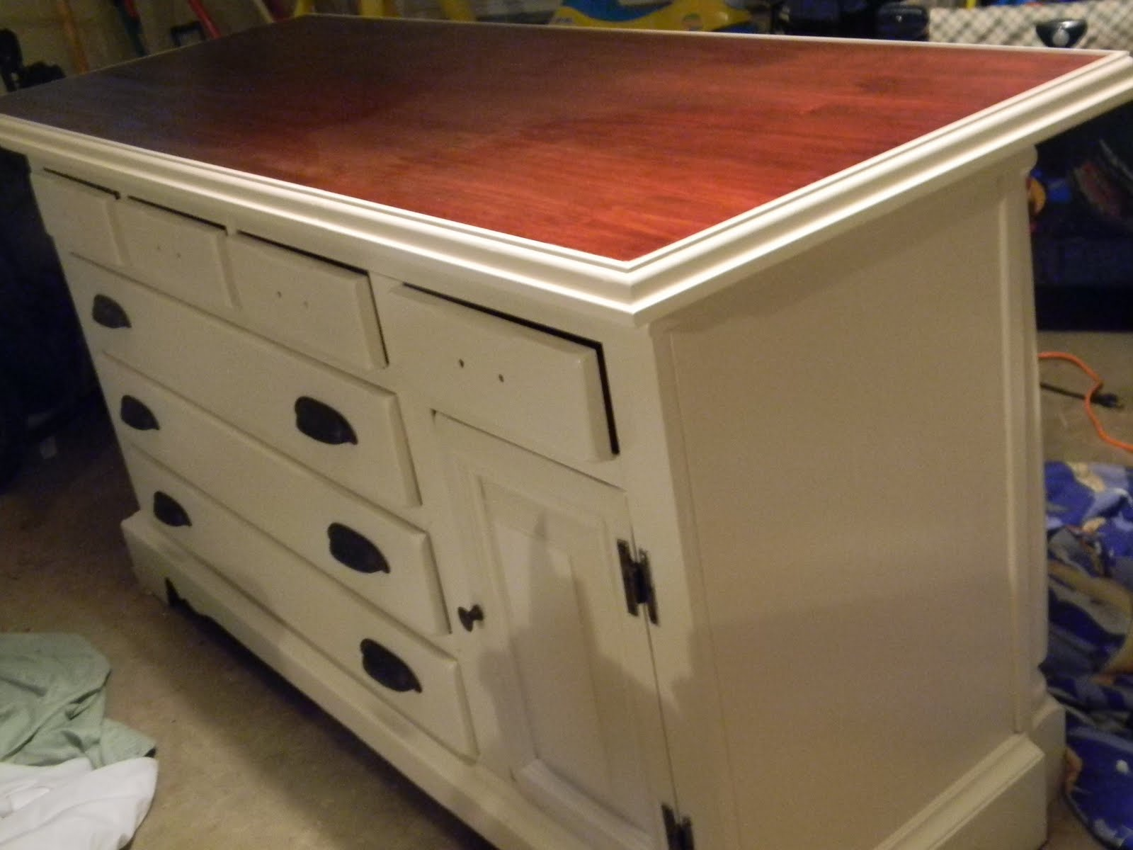 kitchen island made out of dresser remodelaholic from dresser to kitchen island 9413
