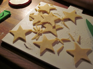 Star mince pie tops