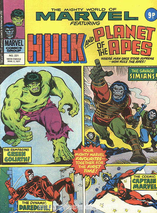 Simon Williams Comic Artist: Classic Sal Buscema Hulk reproduction