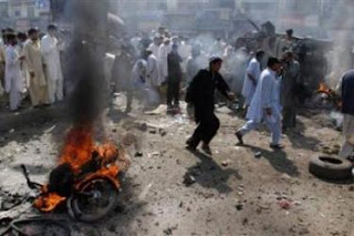 A SUICIDE BOMBER ATTACK IN PAKISTAN
