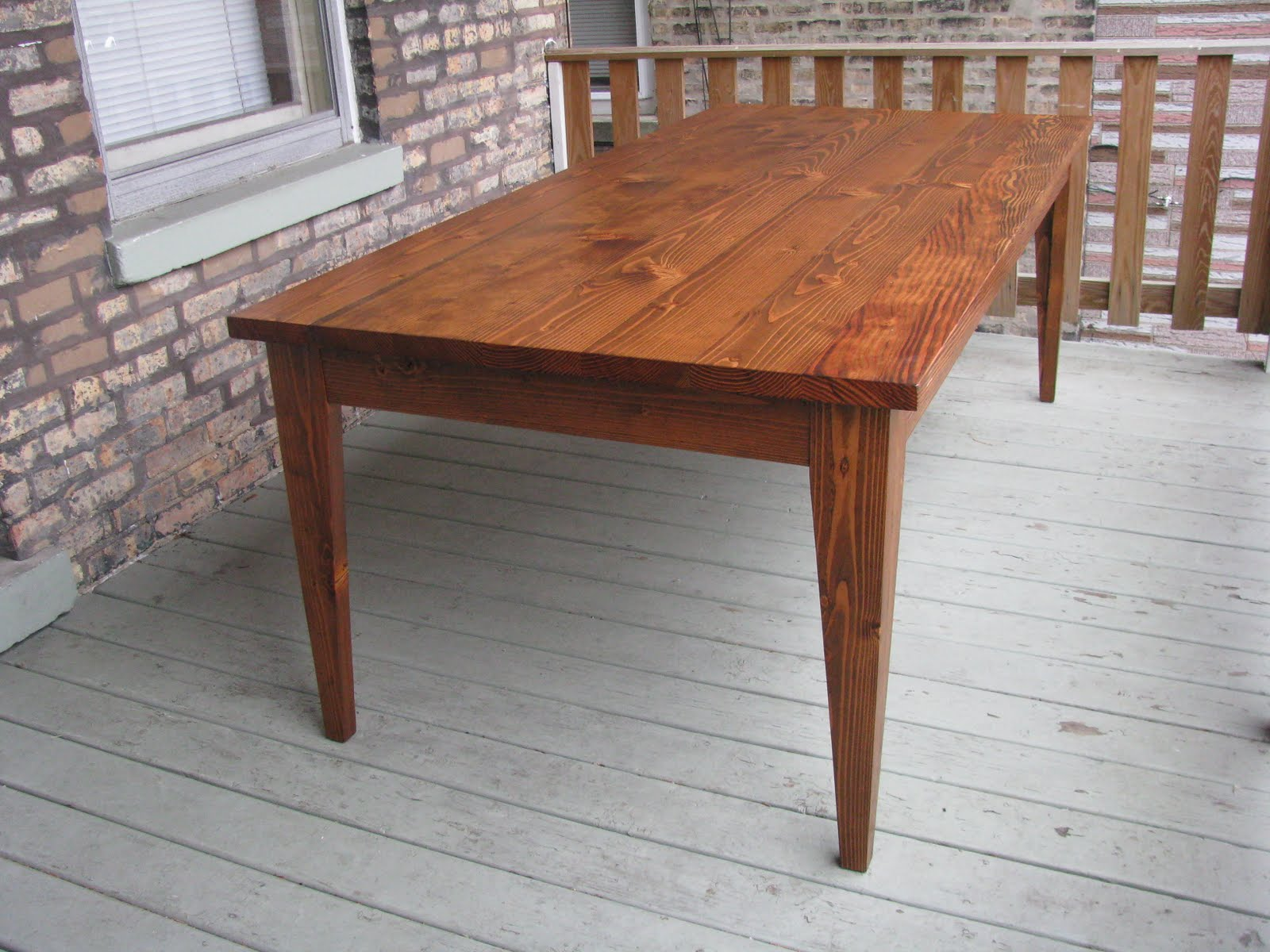 Pine Dining Table Set: Pine Dining Table