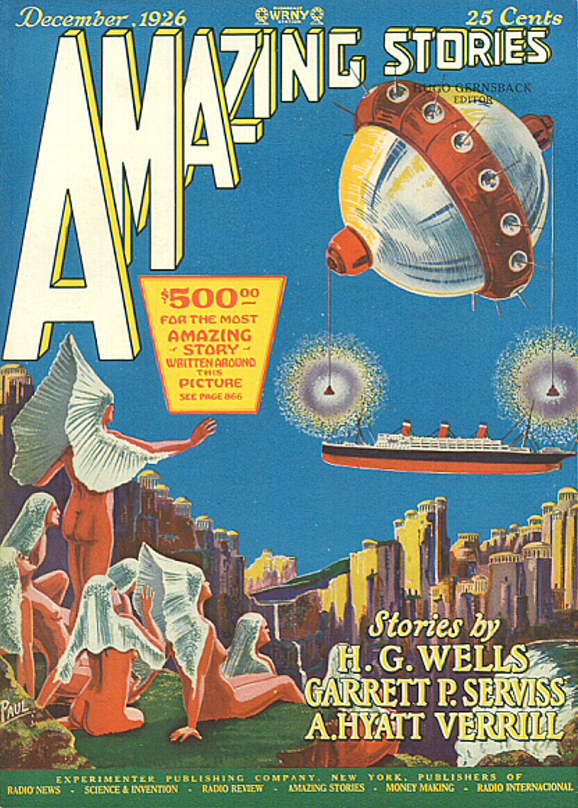 Amazing Stories Volume 21 Number 06: Science Fiction Magazines: Amazing Stories 009 V01n09
