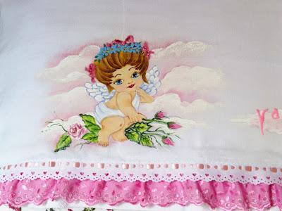 fralda pintada anjinha