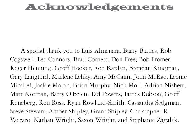 Master thesis presentation acknowledgement page