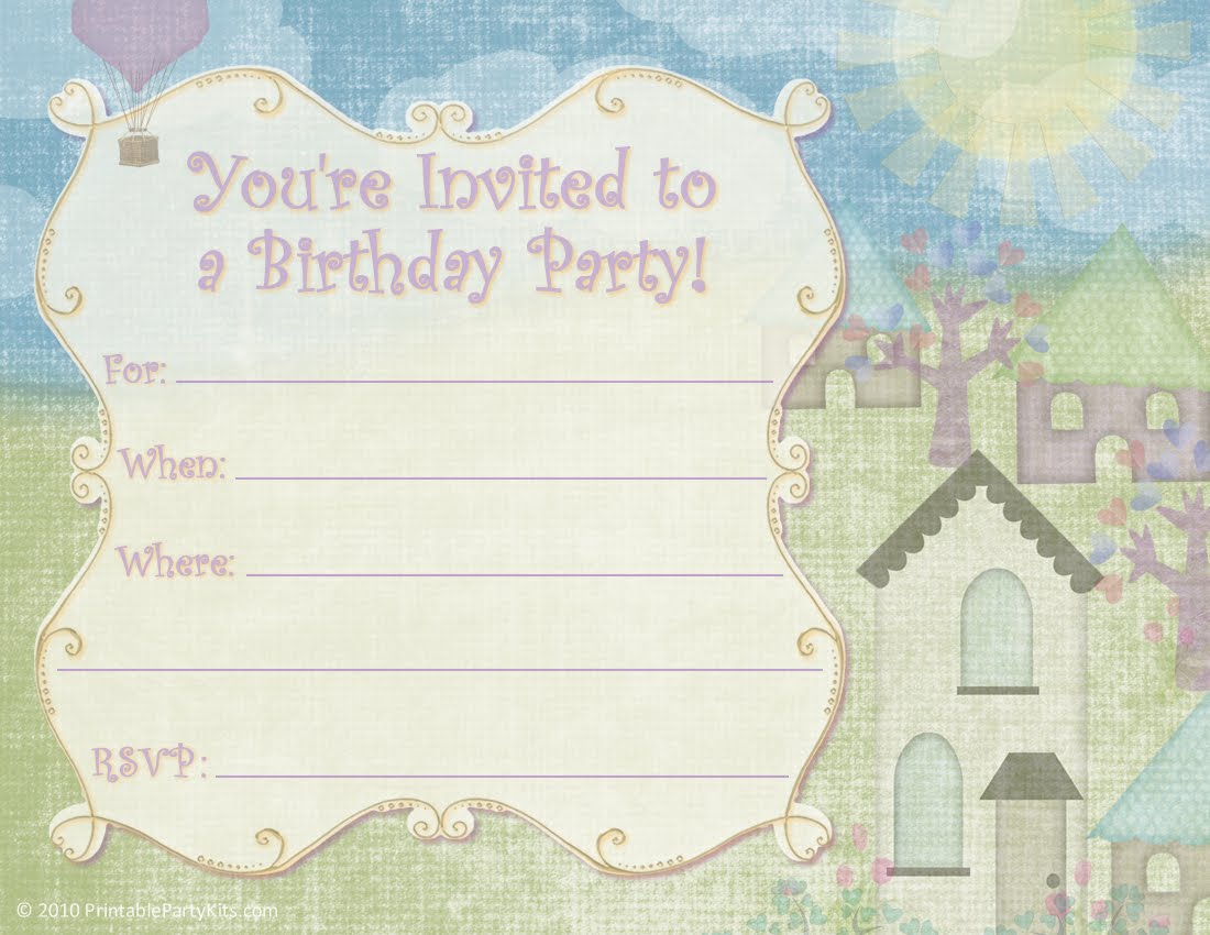 Free Printable Party Invitations: Free Printable Kids and Adult ...