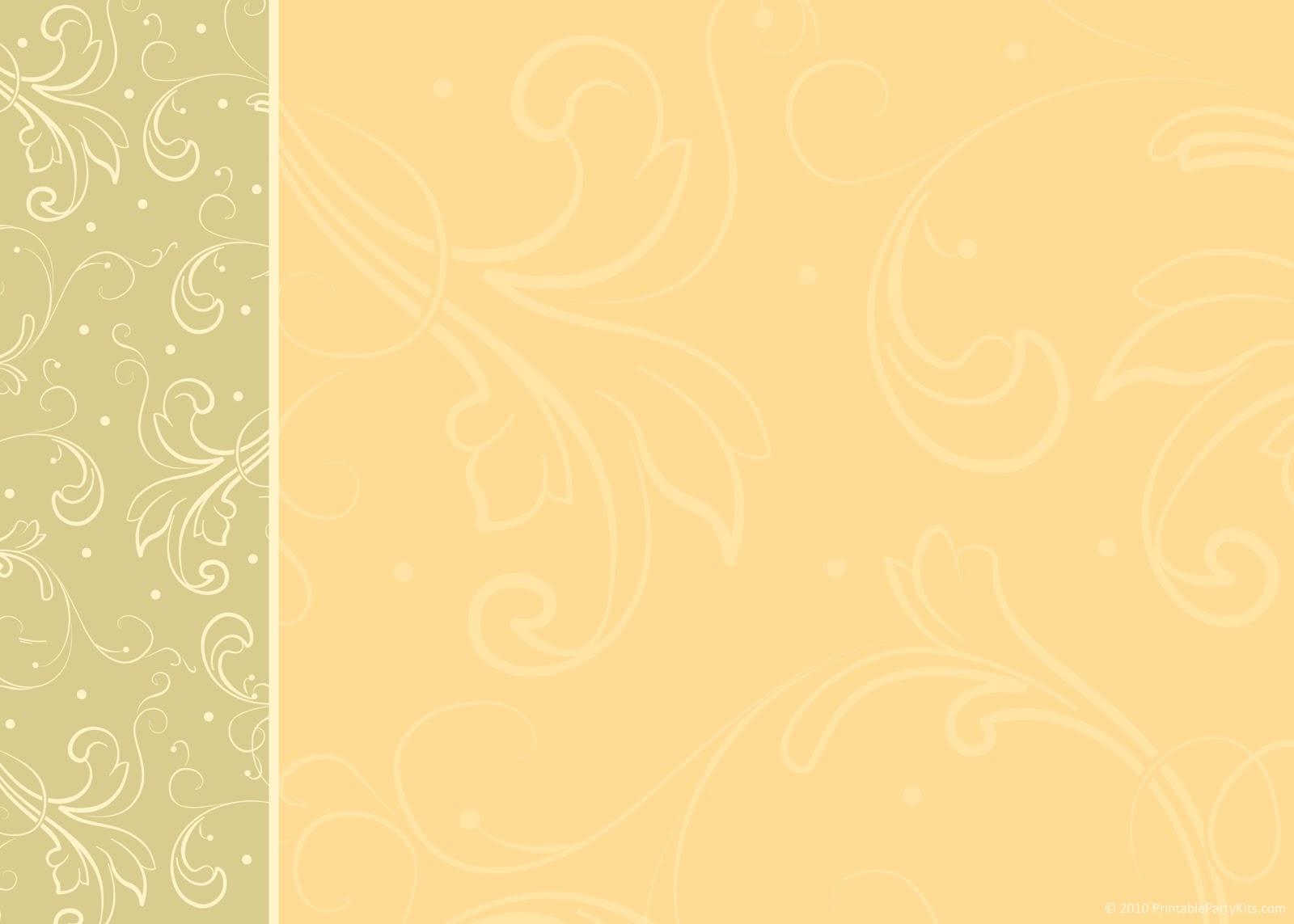 Fall Wedding Invitation Templates Blank