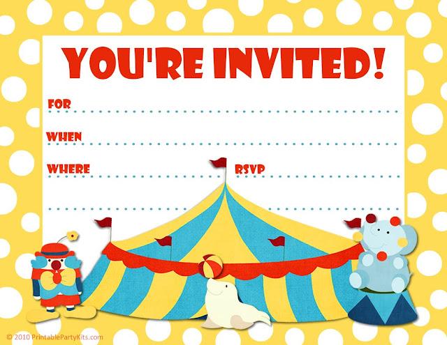 Vixenmade Free Printable Friday Circus Party Invite