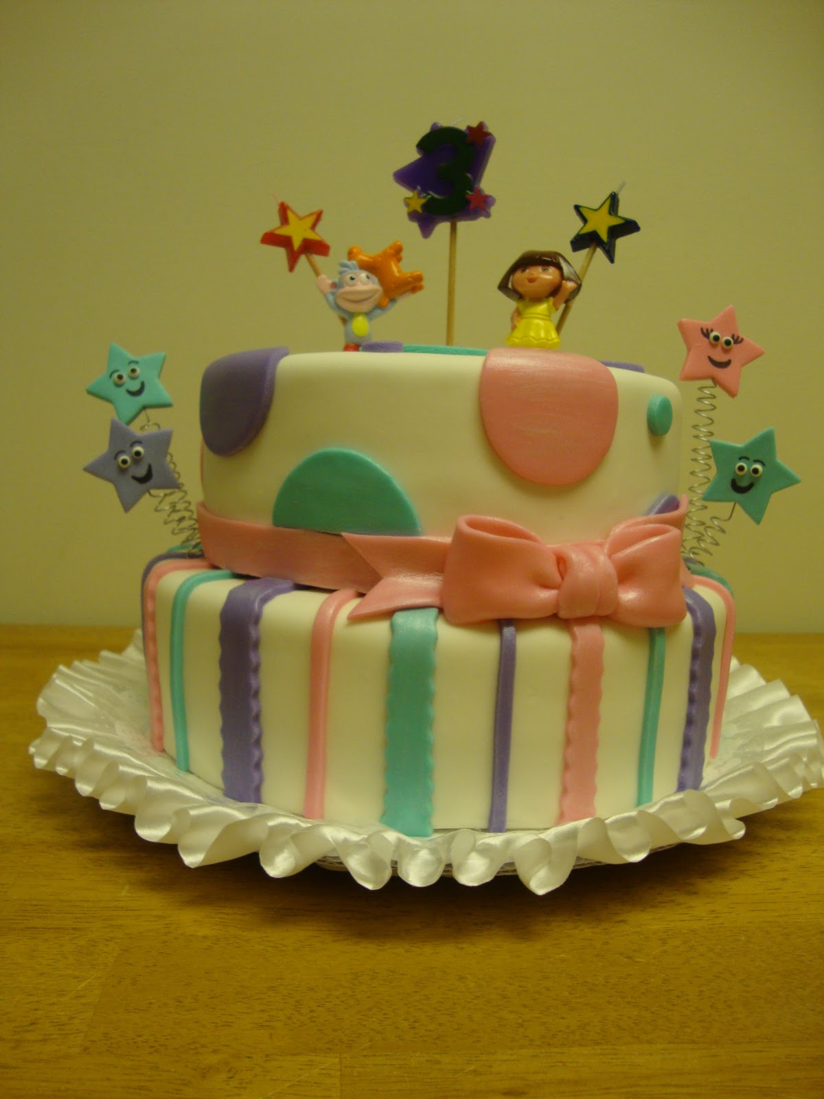 Whimsy Girls Cakes Dora 3rd Birthday Cake