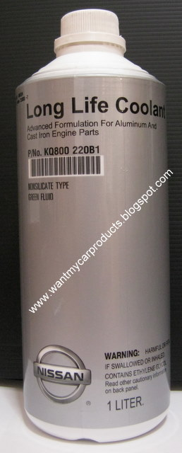 Toyota Super Long Life Coolant >> My.Car.Products: Nissan Long Life Coolant