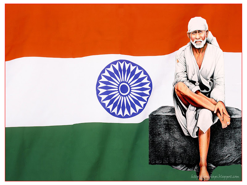 Sai Baba Independence Day Wallpapers title=