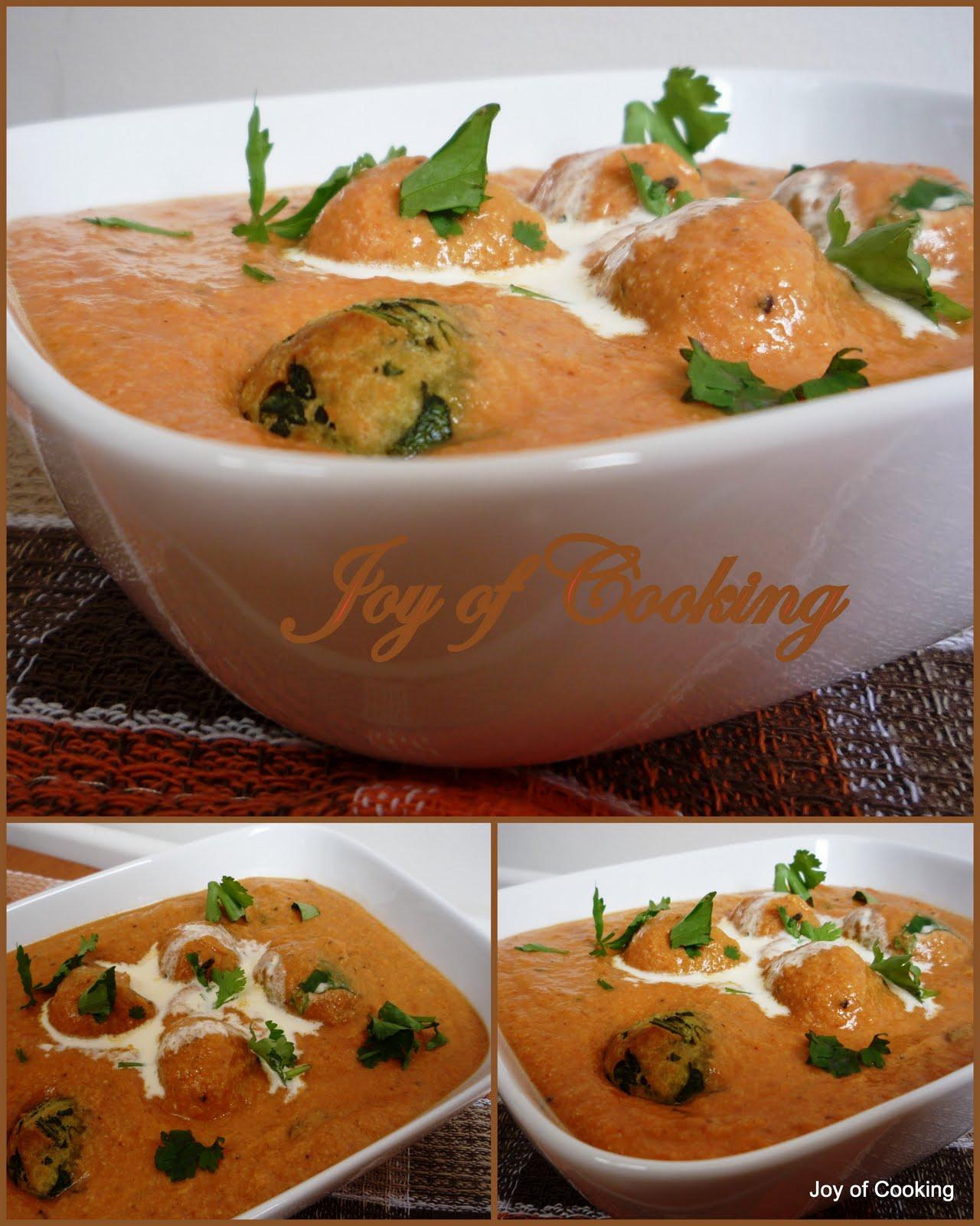 Jagruti's Cooking Odyssey: Paneer and Palak Kofta Curry