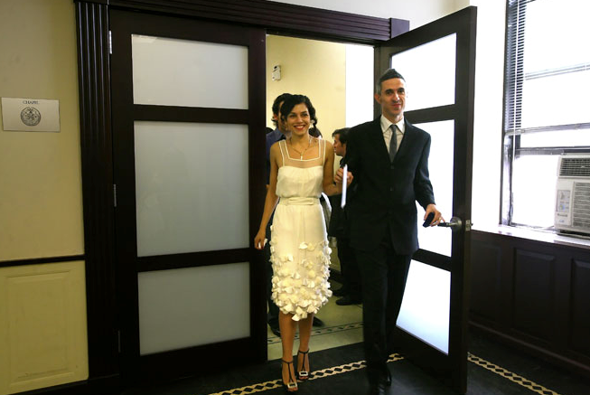 Distractions: City Hall Wedding Dress