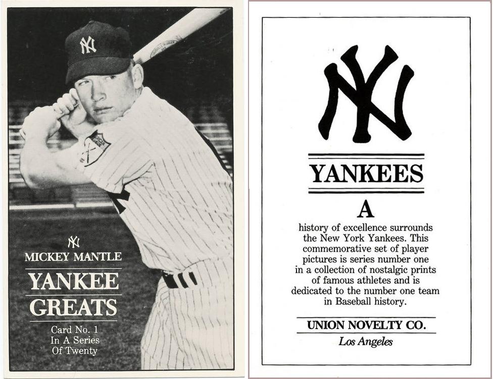 Bob Lemkes Blog 1980 Union Novelty Ny Yankees
