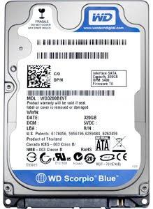WD Scorpio blue 640 Gb drive