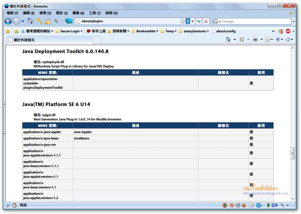 Java SE Runtime Environment (JRE) ~ Jackbin 的懶人筆記