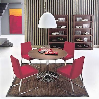 Masa si scaune Planet cu design italian poza 4
