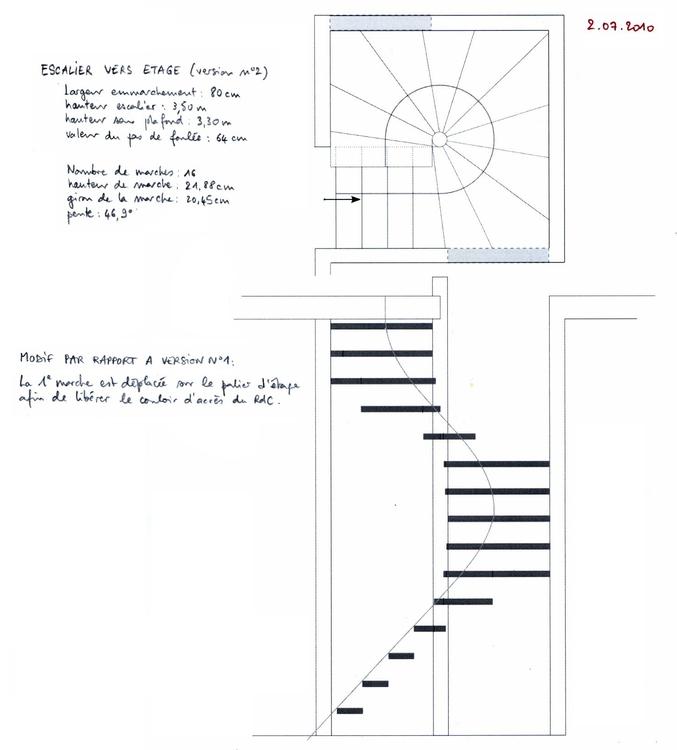 au bled suite ma onnerie et plans d 39 escalier. Black Bedroom Furniture Sets. Home Design Ideas