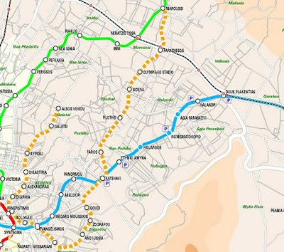 Feroviarii Harti Metrou Atena Grecia
