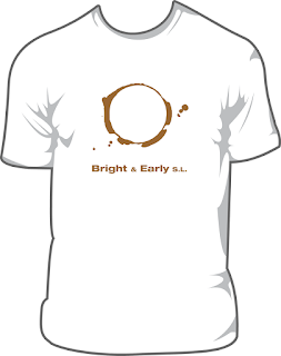 Bright & Early white t-shirt